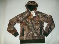 UNDER ARMOUR Realtree Camo HUNTING Full Zip Hooded JACKET Womens Size LARGE NEW
