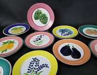 Set of 10 Mesa International Hand Painted 1992 Appetizer Salad Plates 8 1/2""