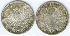 Kaiserreich 1/2 Mark 1907 E  fast stempelglanz