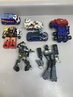 Assorted Lot Of 7 Transformer Action Figures Incomplete Shockwave, Tow Line