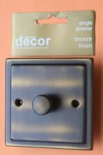 Homebase Die Cast Bronze Antique Brushed Brass Double Dimmer 1G 2 way 60-400w