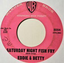 "Eddie & Betty Saturday Night Fish Fry R&B Novelty 45 7"" Vinyl Extras Ship Free"