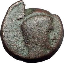 AUGUSTUS 27BC Philippi Macedonia PRIESTS Founding City Oxen Roman Coin i61284