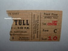 JETHRO TULL 1973 Concert Ticket Stub BUFFALO MEMORIAL AUDITORIUM Passion Play