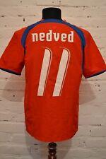 VINTAGE CZECH REPUBLIC 2006/2007 HOME FOOTBALL SHIRT SOCCER JERSEY NEDVED #11