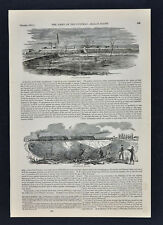 Harper Civil War Print Fort Corcoran Arlington & Fort Albany Alexandria Virginia