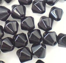 50 pieces 8mm Value Style Crystal Glass Bicone Beads - Black - A2808