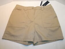 BRAND NEW JONES NEW YORK SIGNATURE WOMEN'S SHORTS SZ. 14 TOAST NWT