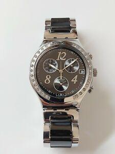 "SWATCH ""Irony""  AG-2006 Cronograph Quartz Swiss Made Women's Watch / New Battery"
