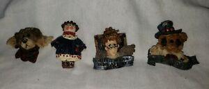Lot of 4 Resin Pins - Boyds Bears & Friends Folkwear