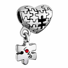 Love Autism Awareness Puzzle Charms Beads Bracelets With Pandora Troll Chamilia