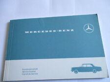 Benz Carnet D'Entretien W 114 W114/8 Scheckheft Livre de Manuel Service Plan