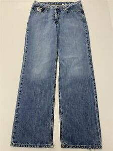 Cinch 36 x 36 White Label Relaxed Fit Medium Wash Cotton Denim Jeans