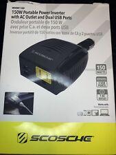 Scosche Invert 150 150w Portable Power Inverter Ac Outlet Dual Usb Port: Laptop