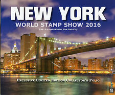 NY2016 New York World Stamp 2016 Excl Limited Ed collectionneurs Folio Skyline de nuit