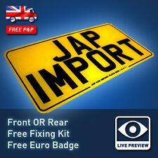 "SINGLE Japanese JAP IMPORT 13x7 13x7"" UK MOT Friendly Reg 13"" Number Plate 04"