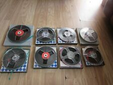 More details for mixed selection of 8 vintage reel to reel tapes various sizes/makes with cases