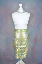 ZAC POSEN Metallic floral waisted pencil skirt, silk lined, SIZE 8