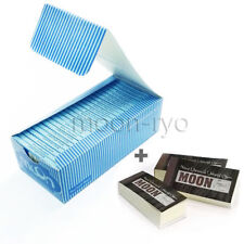 1 box 50 booklets Moon Blue Rice Cigarette Rolling Papers 70*36mm with tips