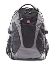 "18""BIG BRAND NEW GRANDTOTES LAPTOP BACKPACK,COLLEGE SCHOOL BAG 10001 BLACK/GREY"