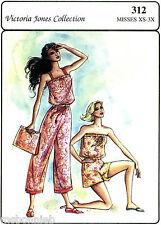 Victoria Jones Sunsuit or Jumpsuit in 2 Lengths & Purse Sewing Pattern XS-3X
