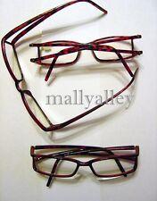 Brown TORTOISE Plastic Frame Double Temple Reading Glasses 1.75 Brand New Reader