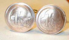 Coin cufflinks~Ring-Tailed Opposom cufflinks-unusual!
