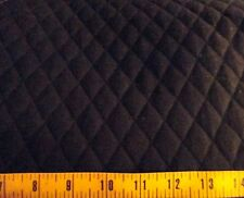"Solid Black QUILTED FABRIC Double Sided 1"" Diamond Pattern BTY"