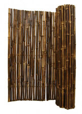 Black Bamboo Fence-8 Ft Sections Commercial Grade-Choice of 4 Heights