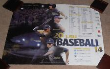 2014 LSU TIGERS BASEBALL SCHEDULE POSTER PAUL MAINIERI ALEX BREGMAN AARON NOLA