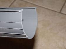 """GREY - 1/4"""" - Heavy Duty Garage Door Bottom Weather Seal - T Seal For 16' Doors"""