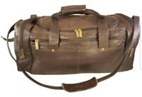 NEW VINTAGE COLOMBIAN DUFFEL CARRY ON BAG BROWN LEATHER