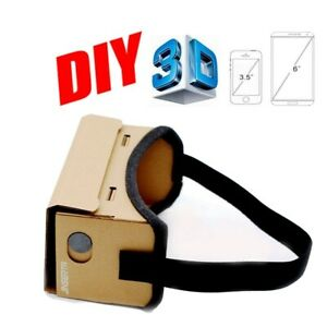 Google Cardboard VR Box Virtual Reality 3D Glasses Magnet Controller For Iphone