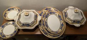 "Grimwades ""Ming"" Part China Set 11 Piece - Antique - Tureen Platter Bowl Plate"