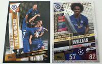 2020 Match Attax 101 Soccer Card Chelsea and Willian Golden Moment UEL Winners