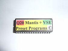 Alesis Q20 - MANTIS + VSE PRESETS EPROM 100 Shadows Programs - Copyrighted