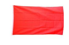 PLAIN RED FLAG LARGE 5 x 3 FT - Socialist Protest Custom Print Own Design Banner
