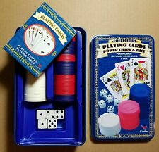 Poker Set Texas Holdem Card Game Cards Dice Poker Chips Cardinal Collectors