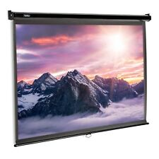 VonHaus 80-Inch Pull-Down Projector Screen | 16:9 Aspect Ratio | Home Cinema