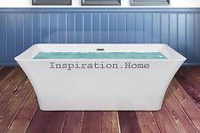 "67"" Acrylic Bathtub Spa Overflow Body Contemporary Freestanding Bathroom Shower"
