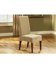 Sure Fit Stretch Pique Short Dining Chair Slipcover in Cream