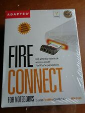 New listing Adaptec Fire Connect for Notebooks 3-port FireWire CardBus Kit Afw-1430
