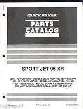 1996/97 QUICKSILVER / MERCURY / MARINER OUTBOARD SPORT JET 95 XR PARTS MANUAL