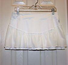 NIKE Skirt Tennis Running Skort white Ruffle Women's Size M Medium EXC