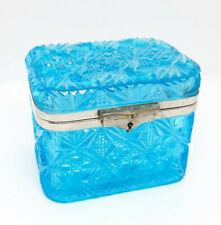 New ListingAntique Russian Imperial Blue Glass Tea Box.