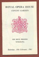 Royal Ballet Covent Garden 1961, Deux Pigeons/Veneziana, Gable, Seymour   JX1300