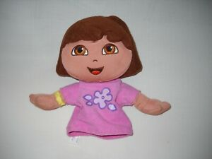 "Fisher Price Dora the Explorer Hand Puppet  interactive Play 8"" preowned"