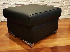 Echt Leder Hocker aufklappbar mit Stauraum Sitzhocker Fußhocker Sitzwürfel 60x55