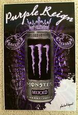 2008 Monster MIXXD Energy Drink PURPLE REIGN Rain Store Cooler Label 4x6 Prince