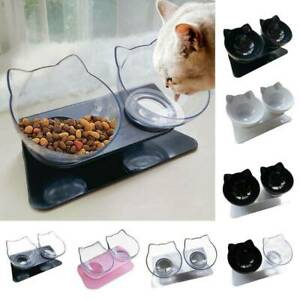 Anti-Vomiting Protect Dog Cat Pet Bowl Cervical Spine Water Feeding Double Bowls